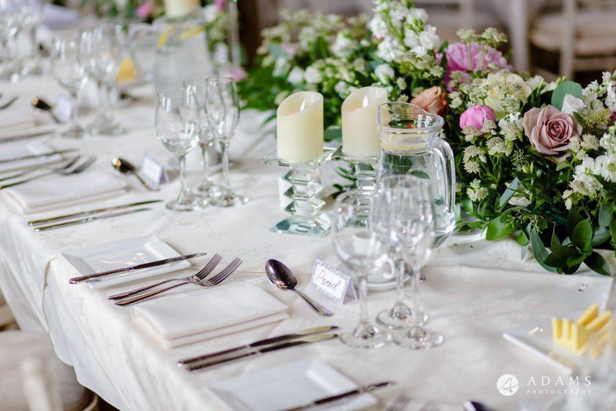 st donats castle wedding top table