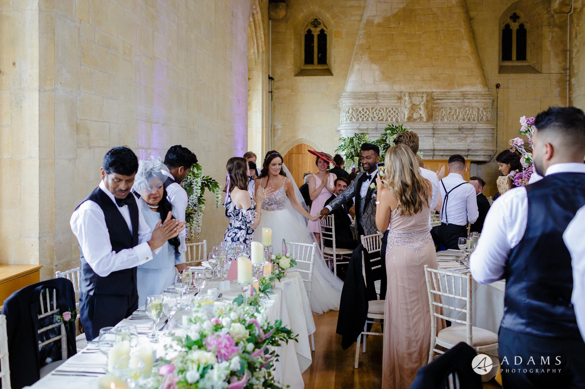 st donats castle wedding big entrance