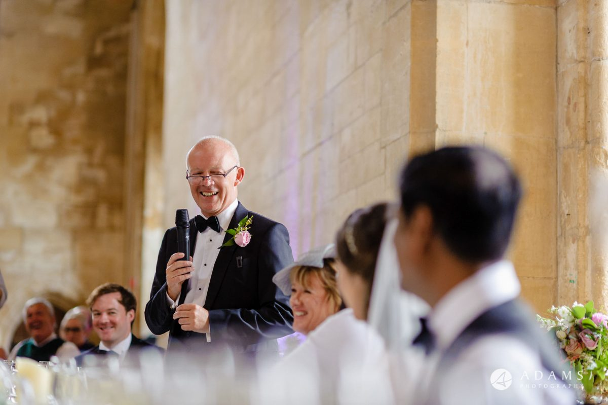 st donats castle wedding father of the bride speech
