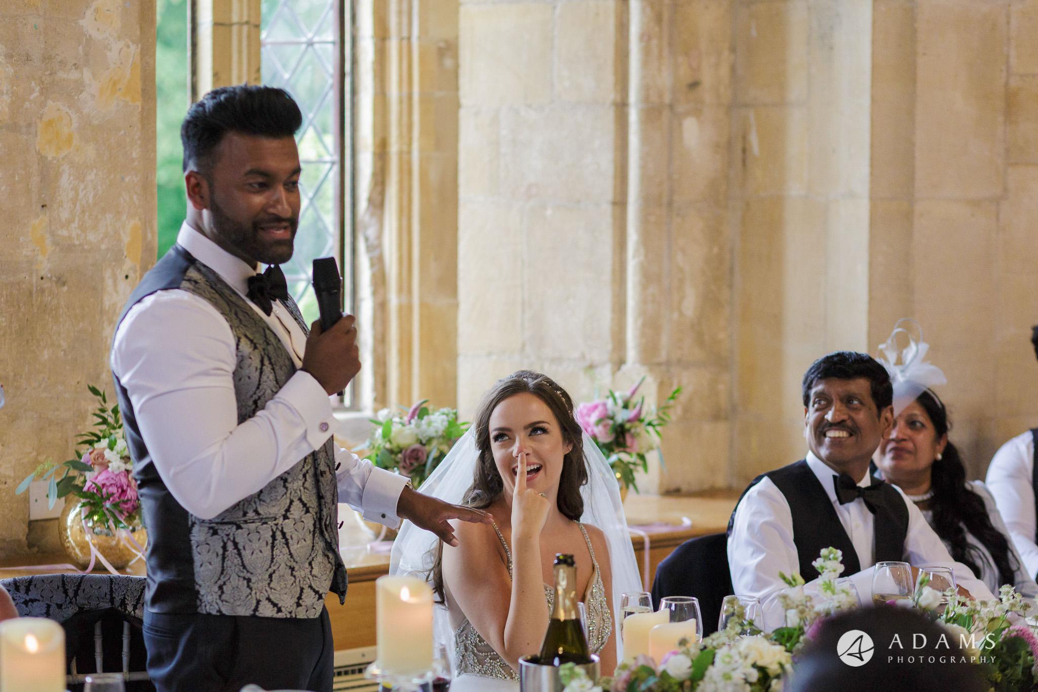 st donats castle wedding grooms speech