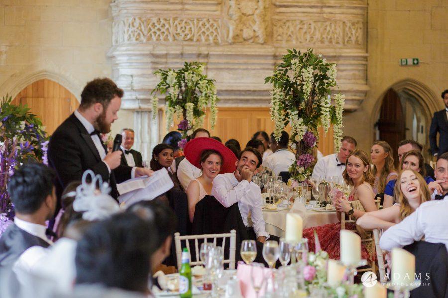 st donats castle wedding brides brother speech