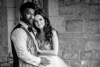 st donats castle wedding bride and grooms portrait