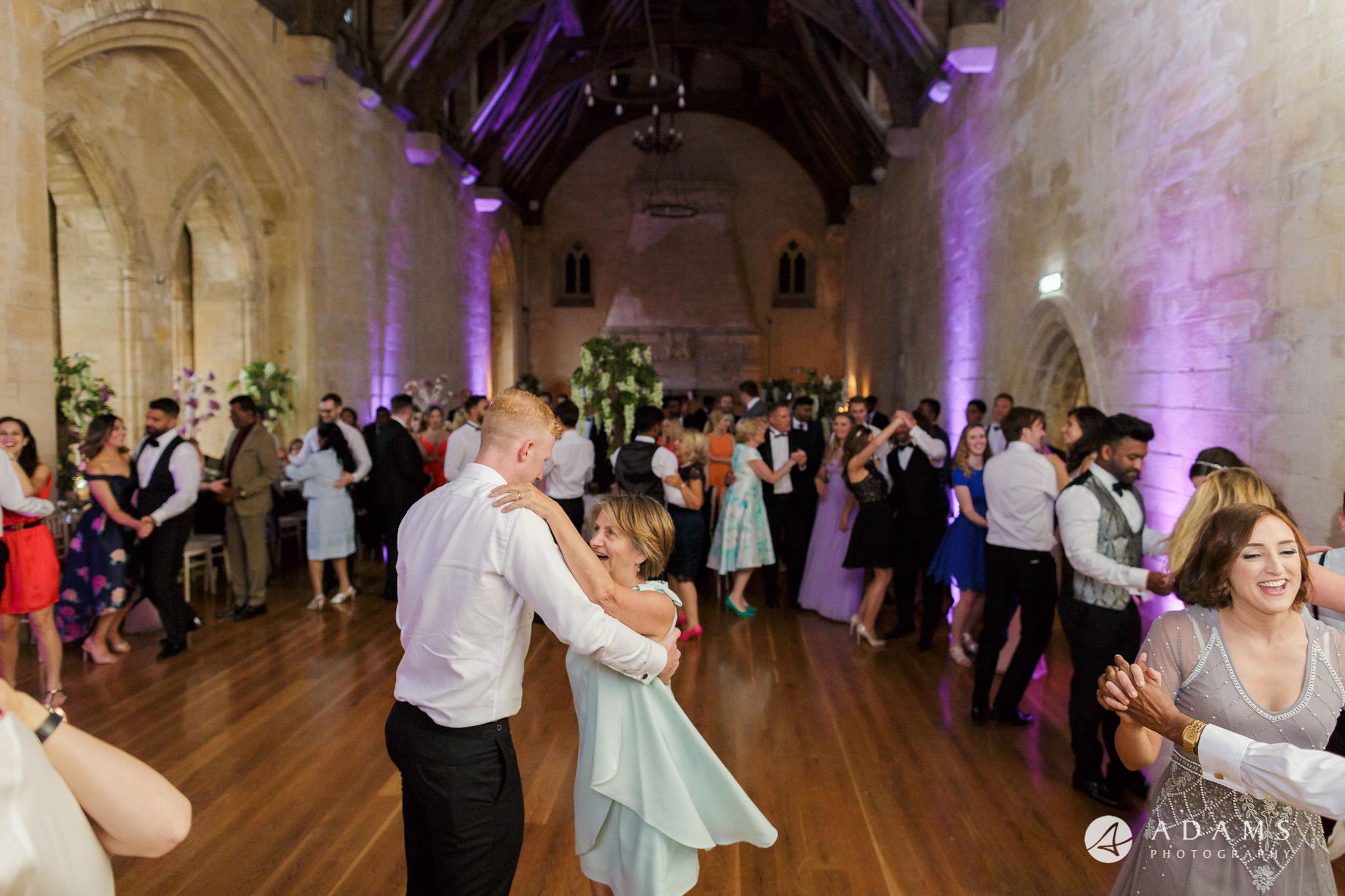 st donats castle wedding guests dancing