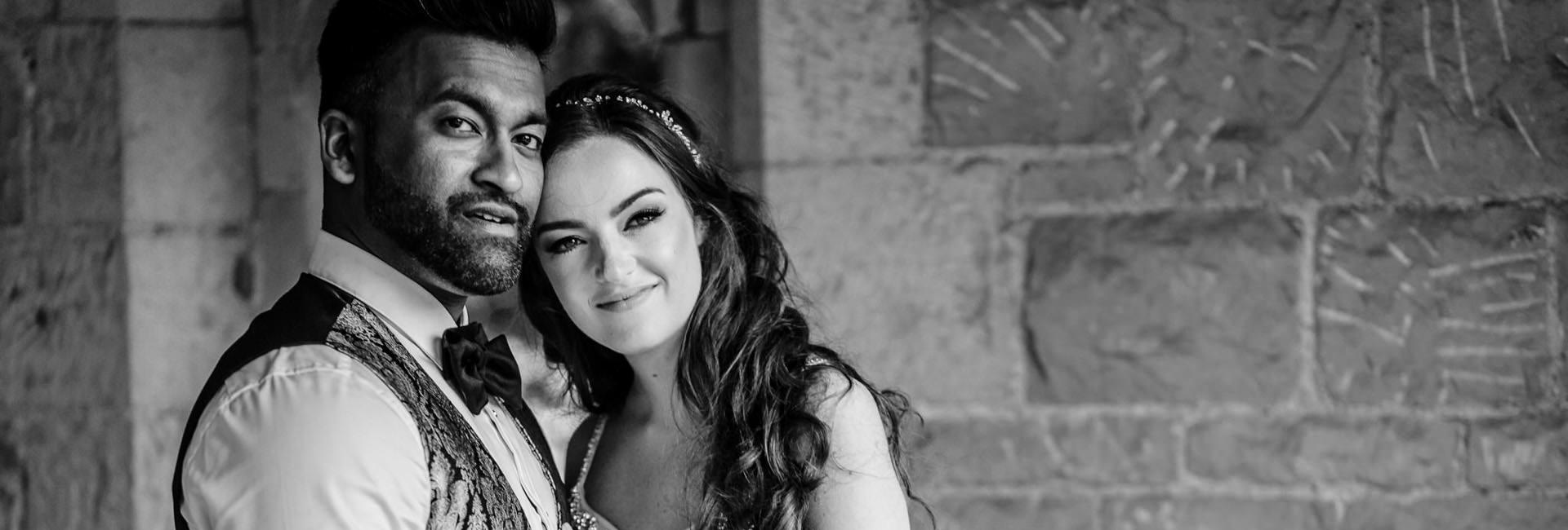 St Donats Castle wedding photographer couple portrait photo