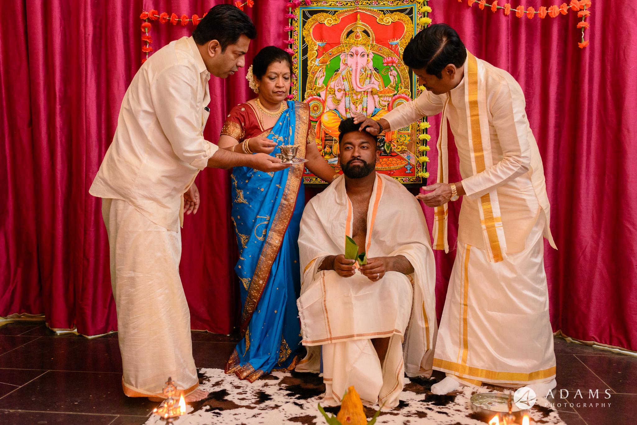 walled garden orchardleigh wedding tamil milk ceremony