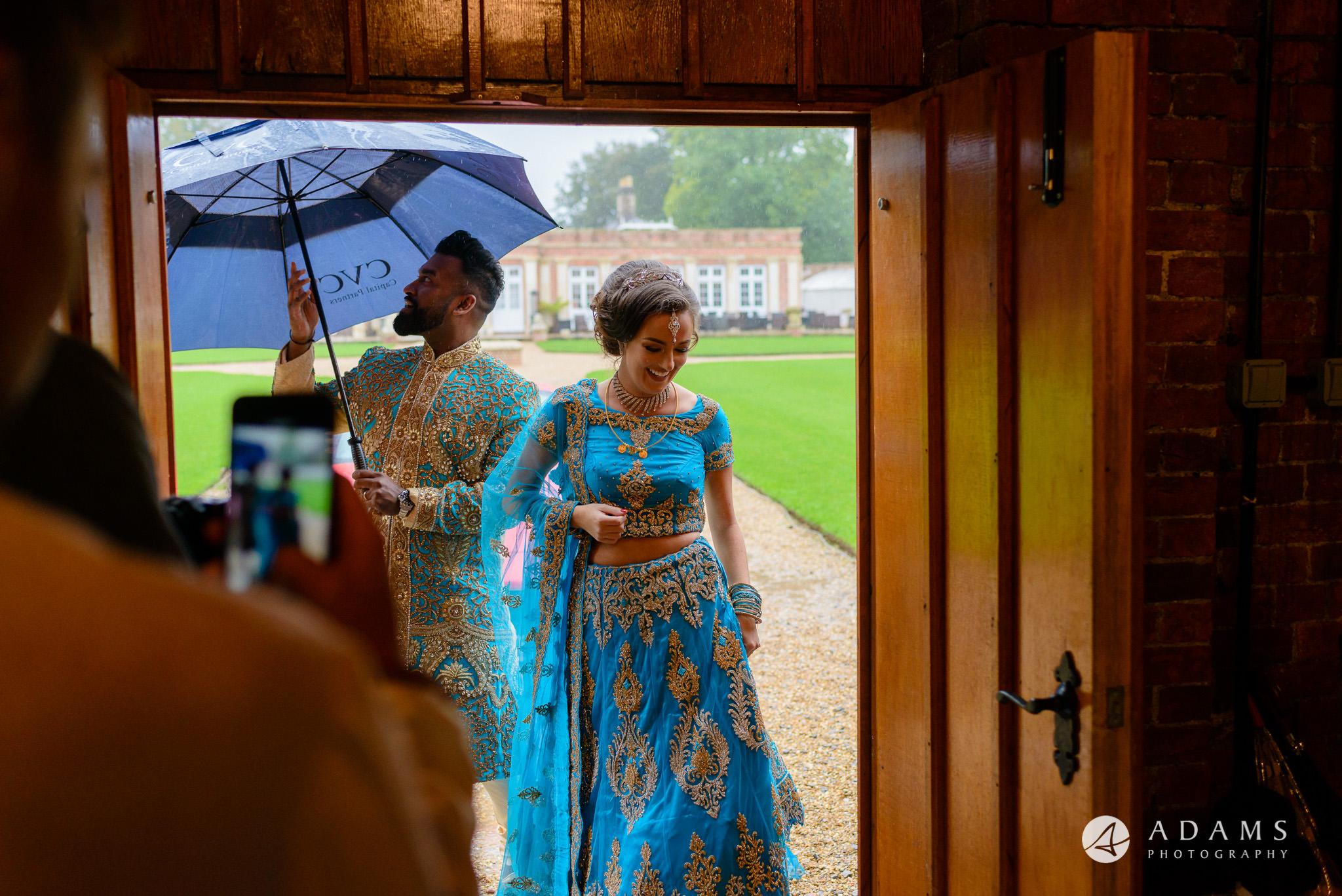 walled garden orchardleigh wedding the couple enter the reception