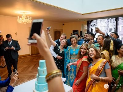 walled garden orchardleigh wedding group selfie