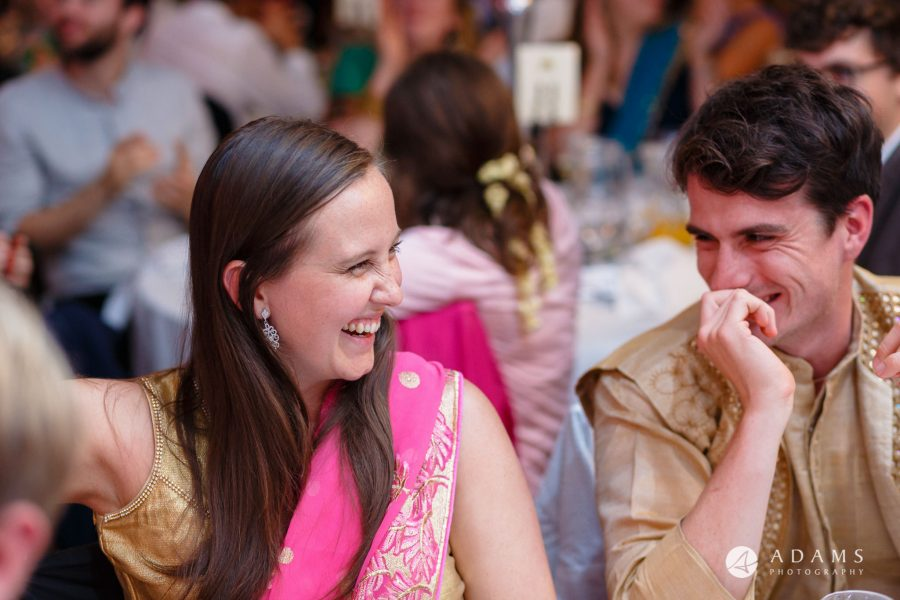 walled garden orchardleigh wedding guests laughing