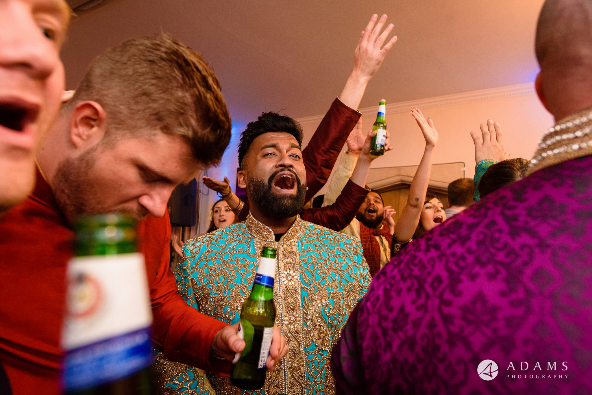 walled garden orchardleigh wedding photography groom singing