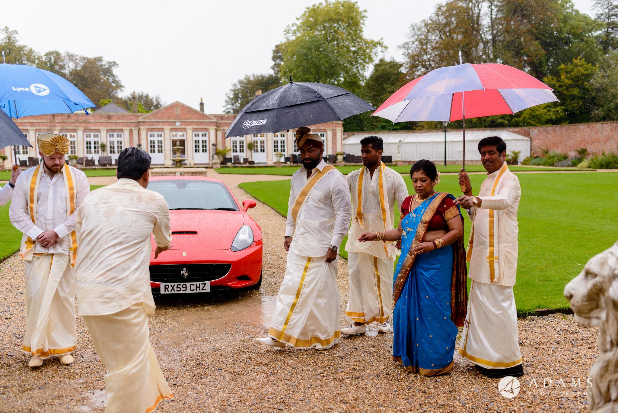 walled garden orchardleigh wedding grooms arrival