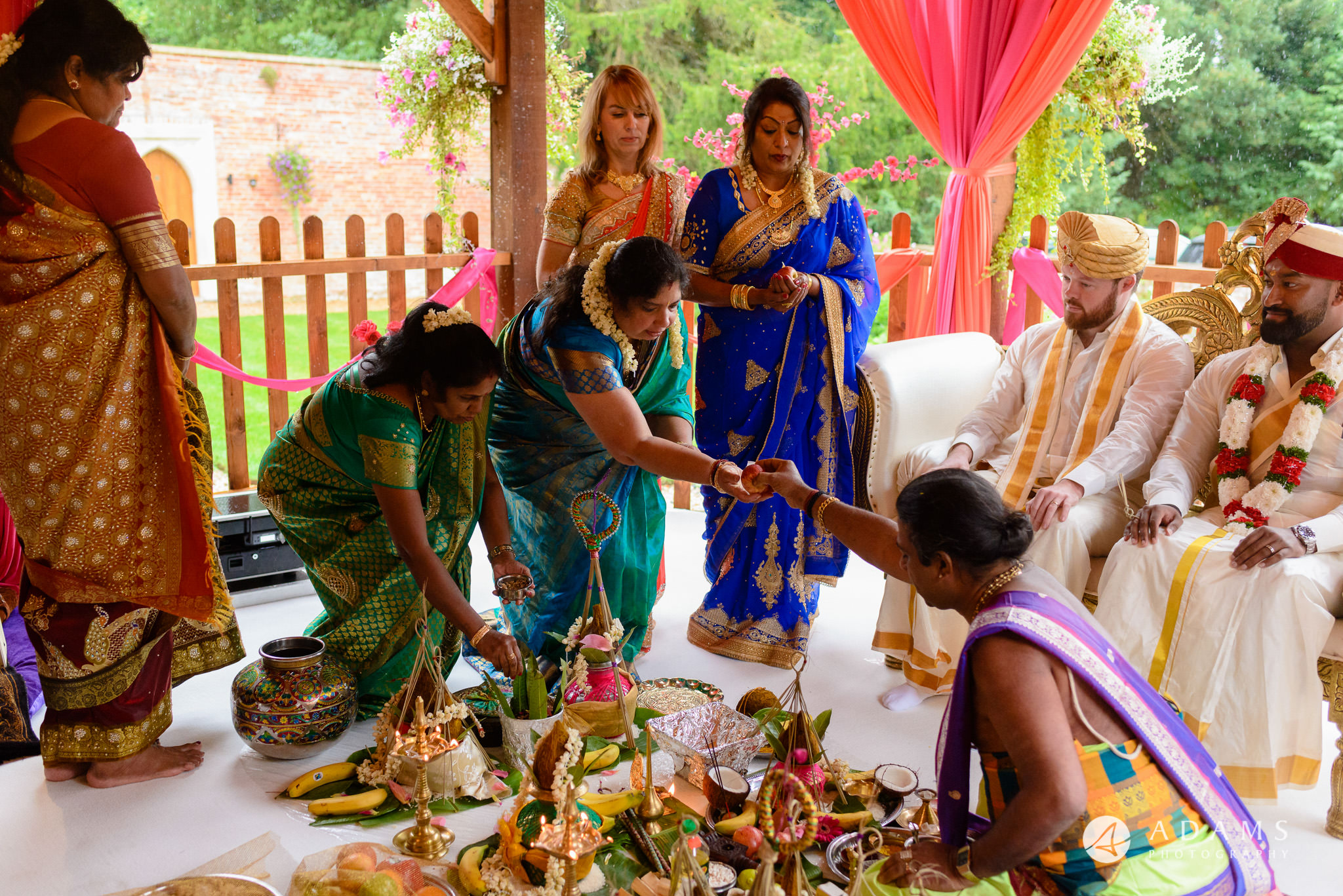 walled garden orchardleigh wedding family puja