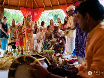 walled garden orchardleigh wedding drum player
