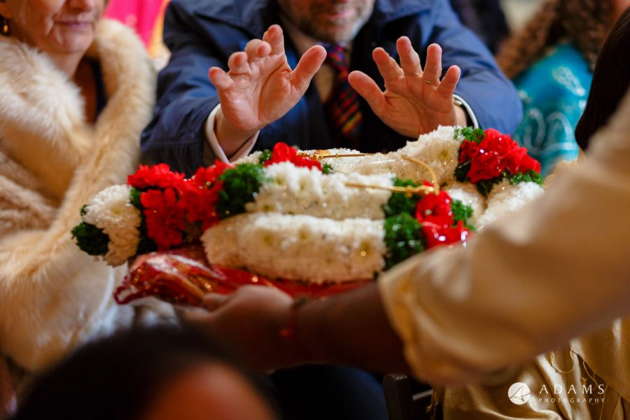 walled garden orchardleigh wedding blessing of the thali