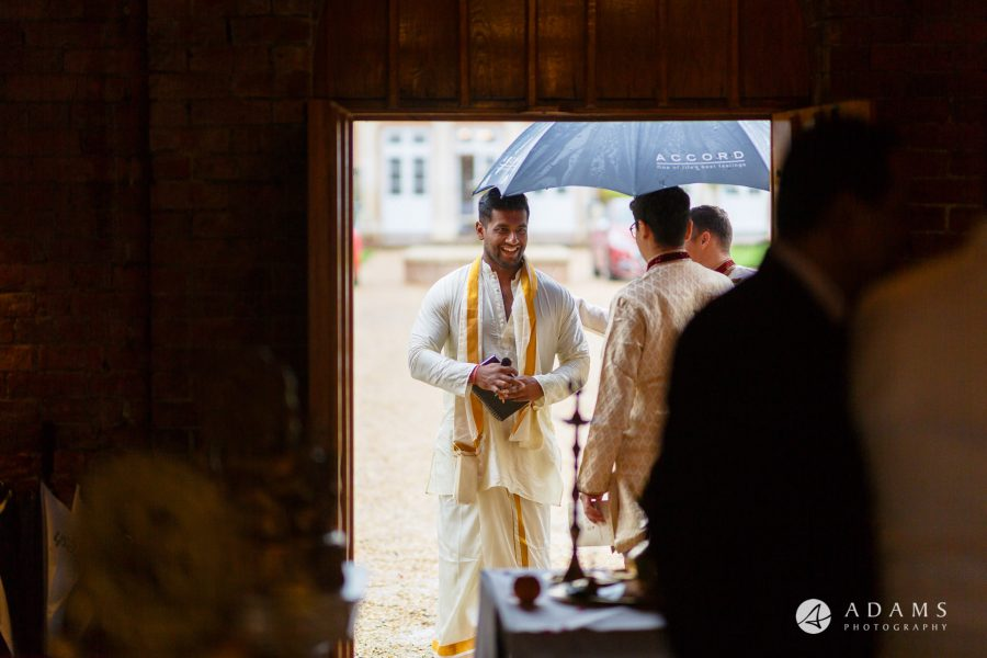 walled garden orchardleigh wedding guests outside