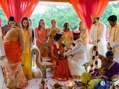 walled garden orchardleigh wedding bride is facing the groom
