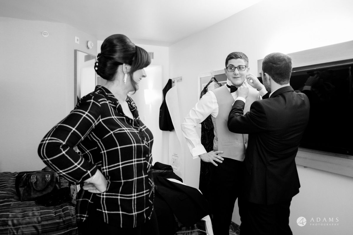 grand connaught rooms wedding groom is getting ready