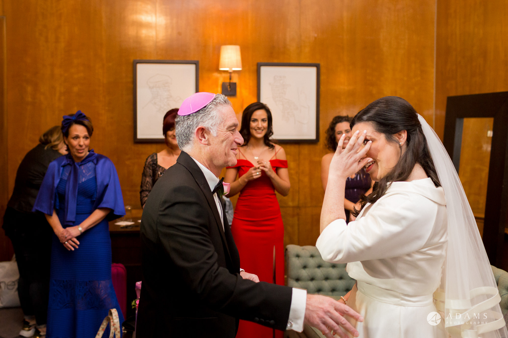 grand connaught rooms wedding bride is crying