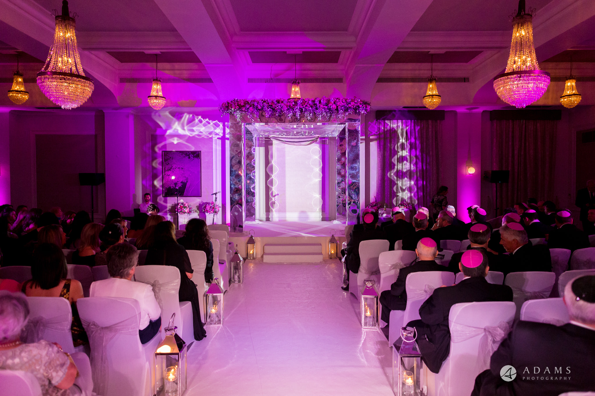 grand connaught rooms wedding view of the Jewish Chuppah