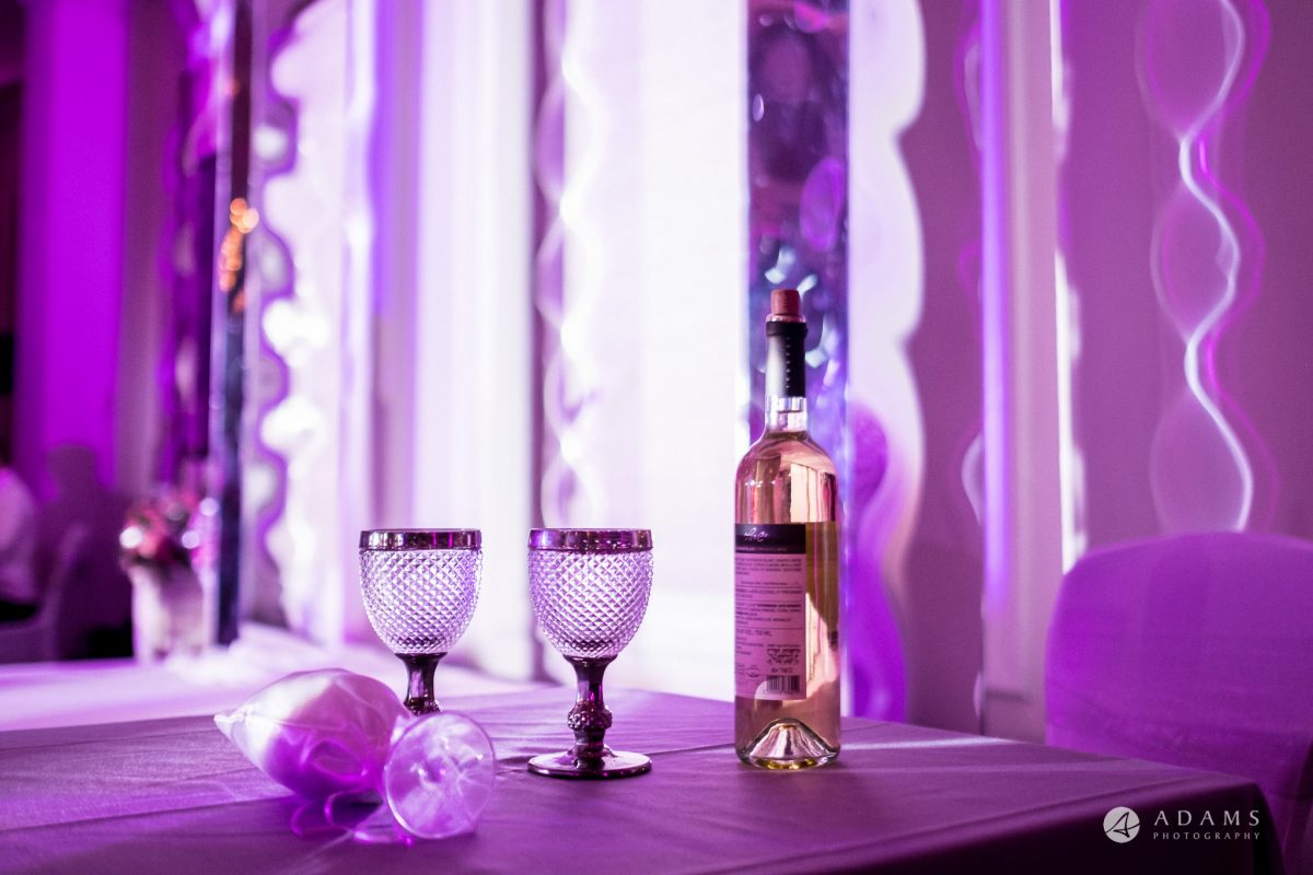 grand connaught rooms wedding glasses