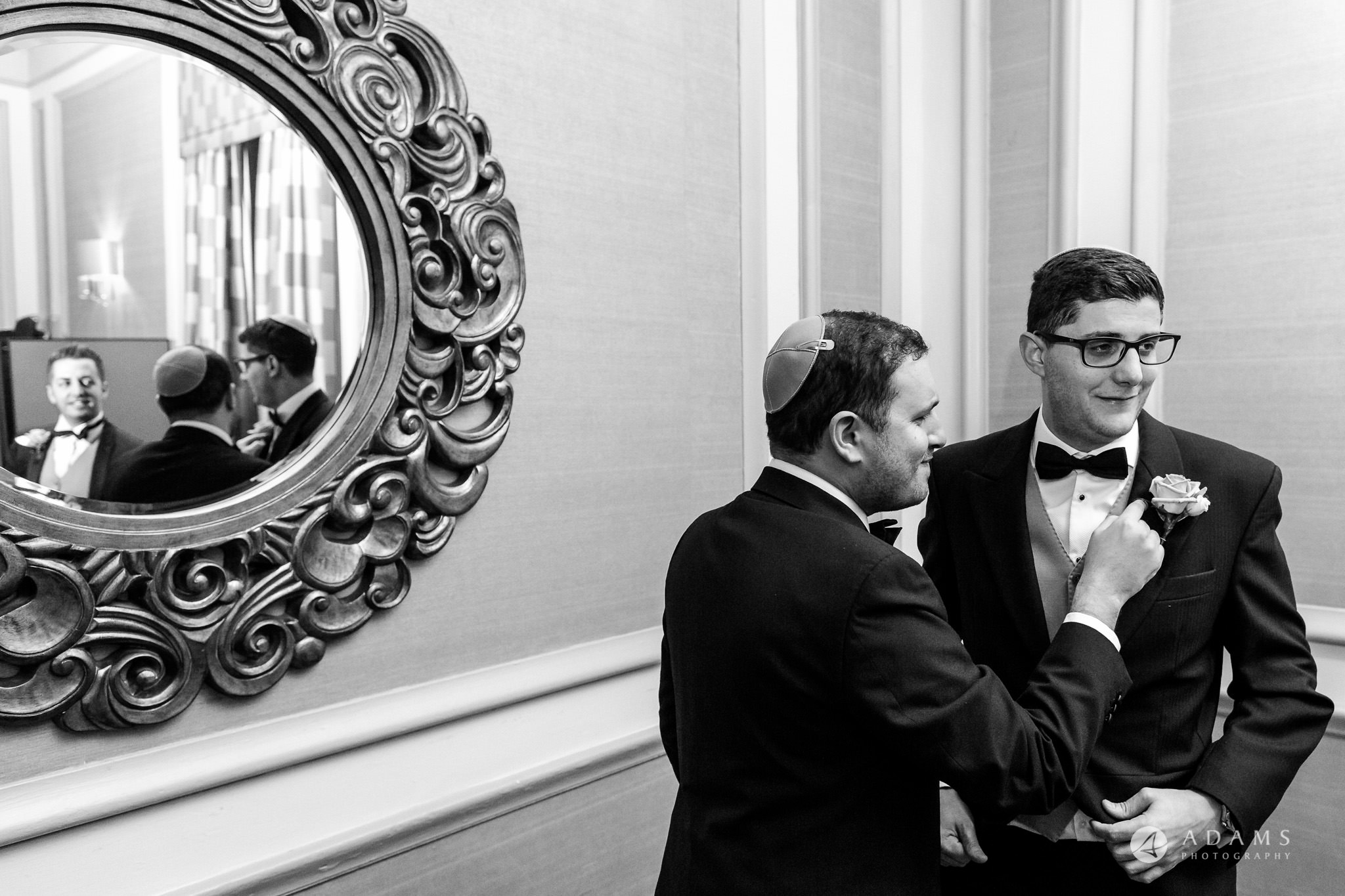 grand connaught rooms wedding groom and his groomsmen are having whisky
