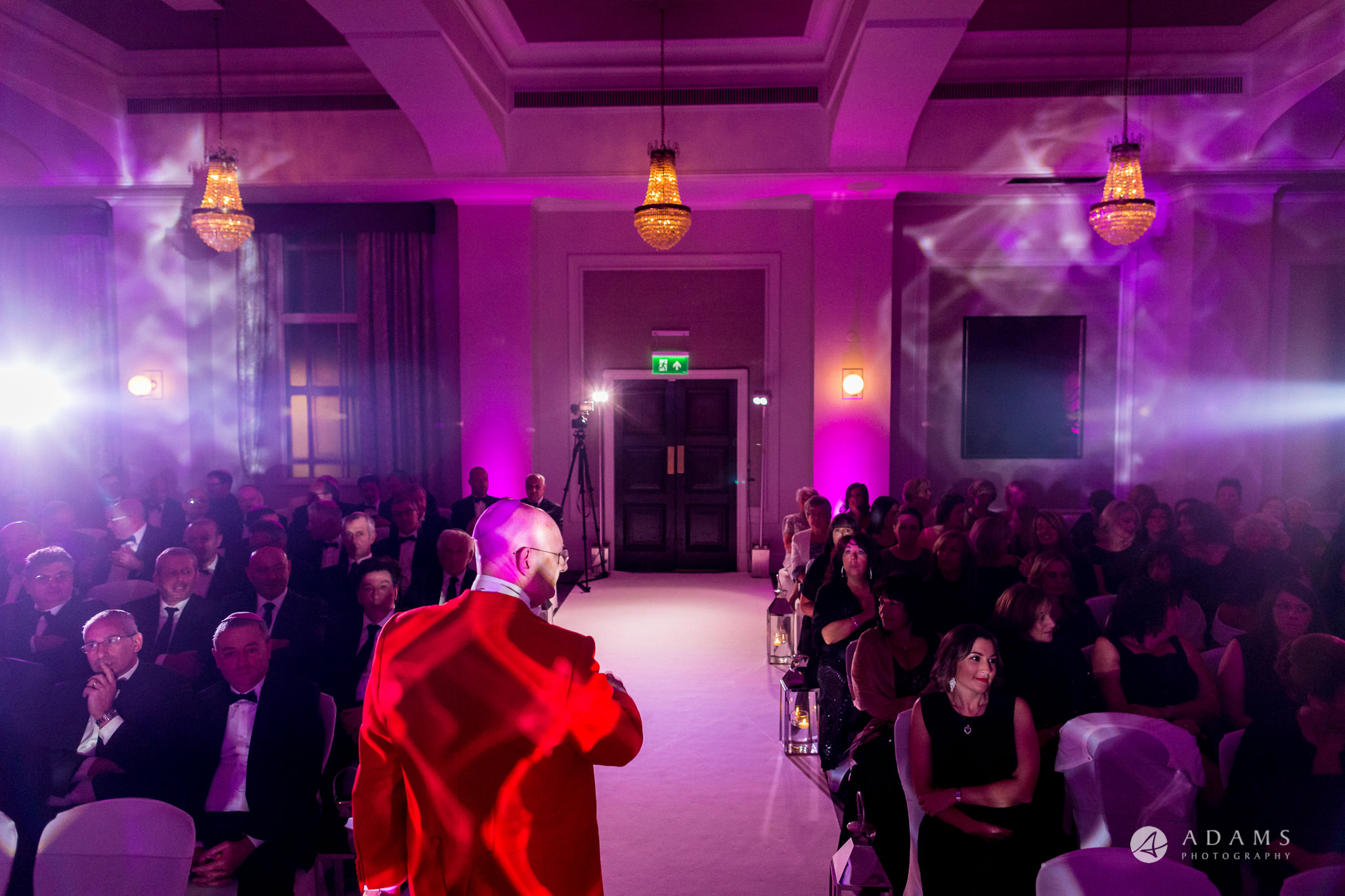 grand connaught rooms wedding toastmaster is welcoming the guests