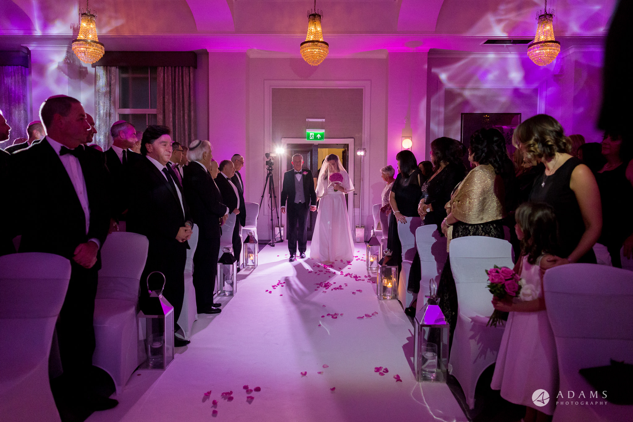 grand connaught rooms wedding bride is walking down the aisle