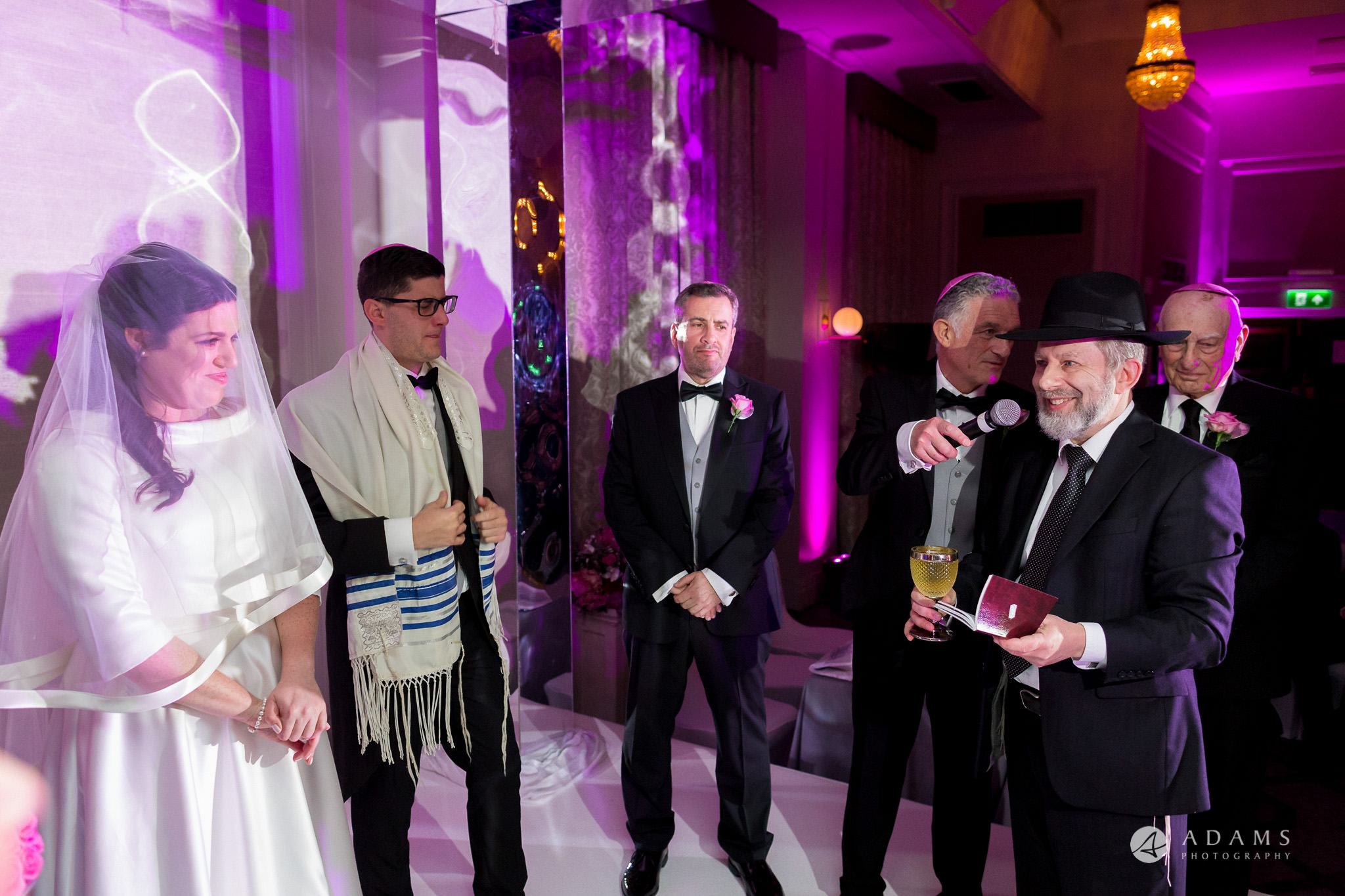 grand connaught rooms wedding rabbi is giving a reading