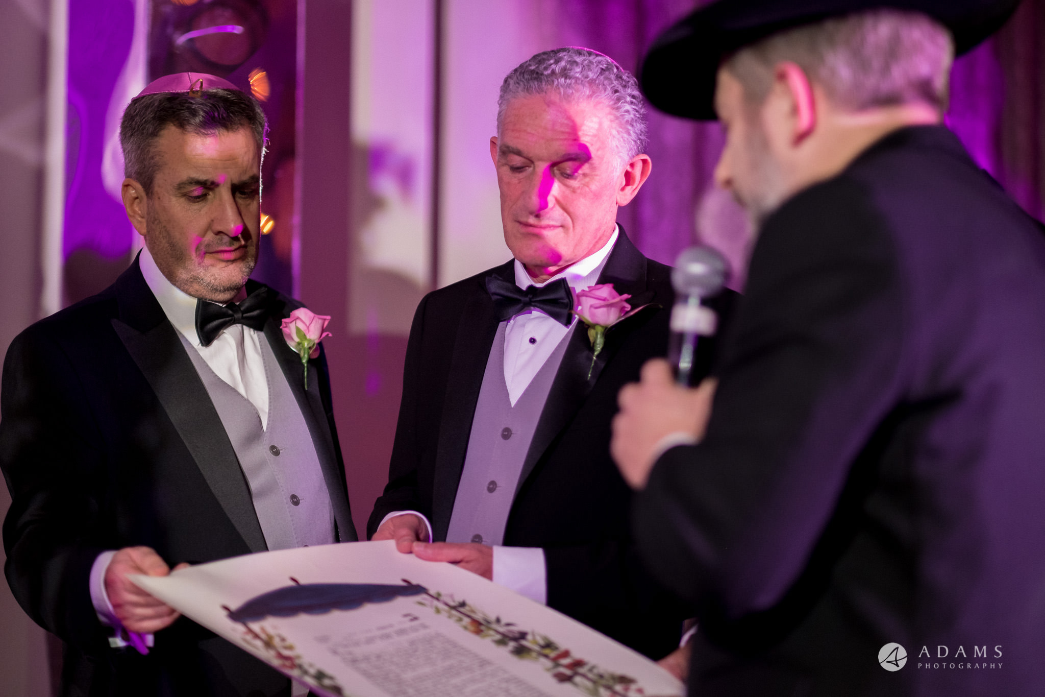 grand connaught rooms wedding rabbi is reading the ketubah