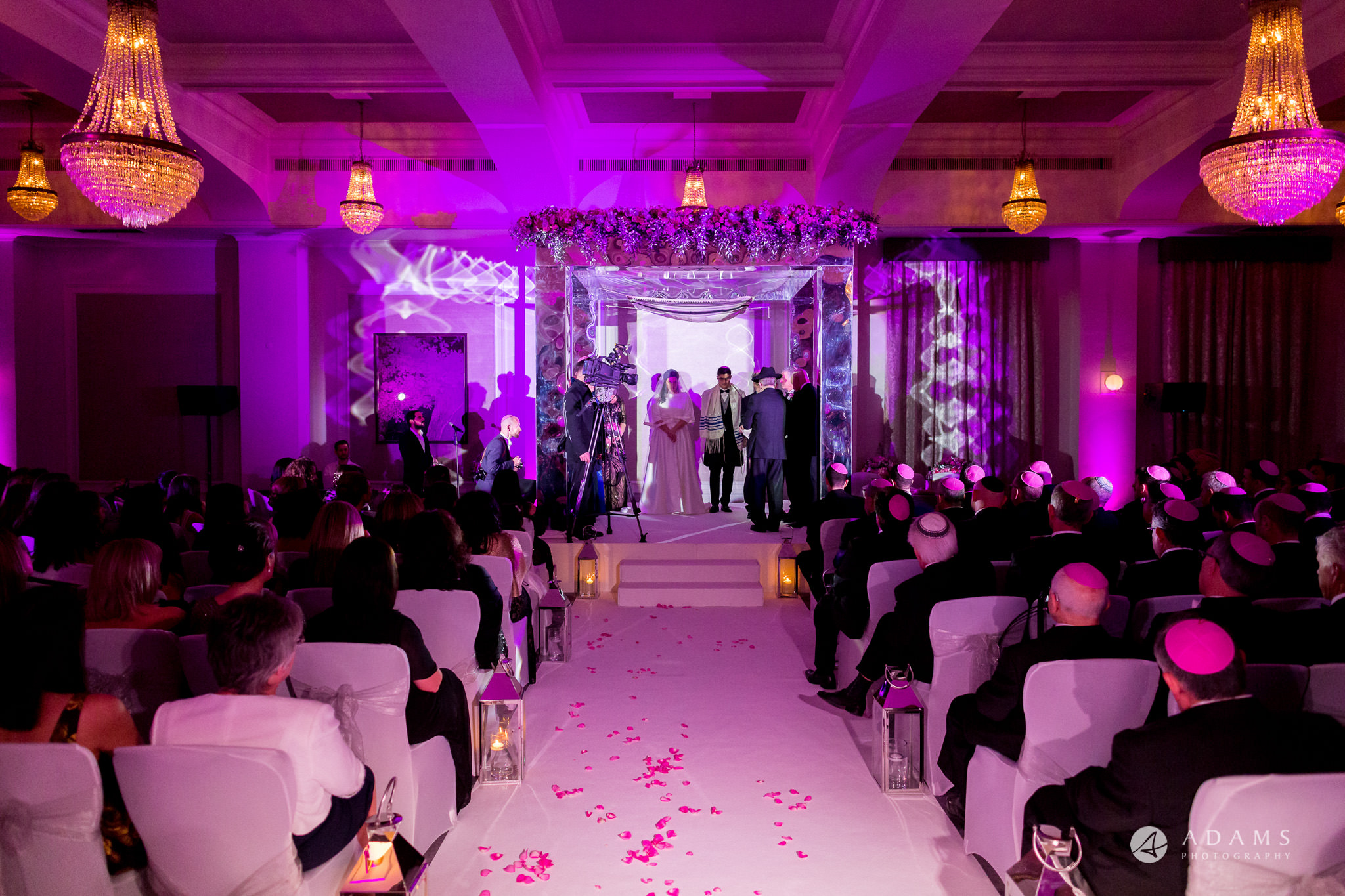 grand connaught rooms wedding view of the chupah