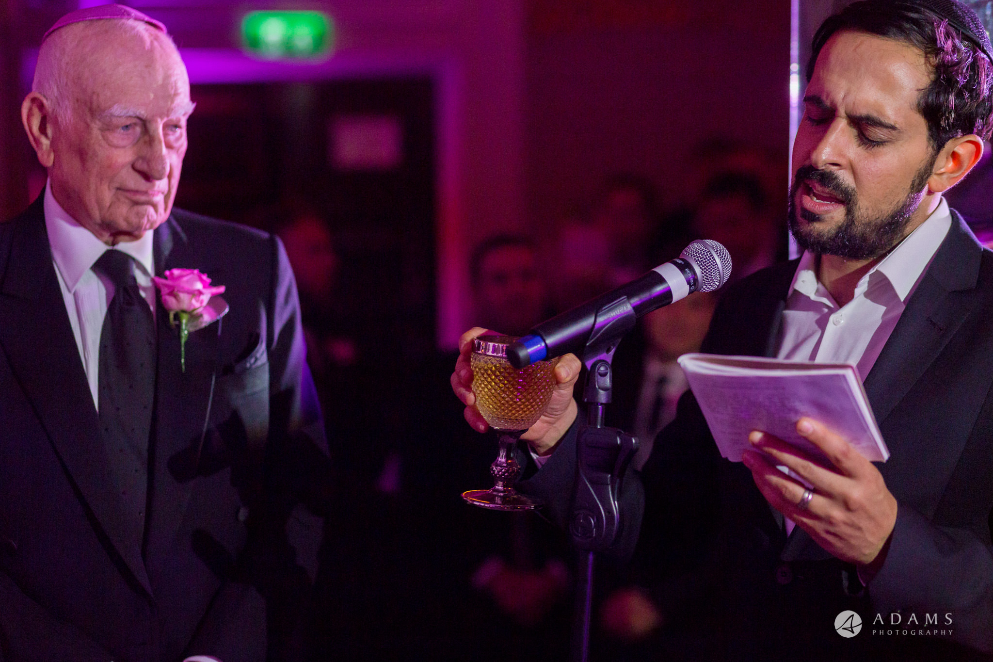 grand connaught rooms wedding a singer is sining Jewish belssing