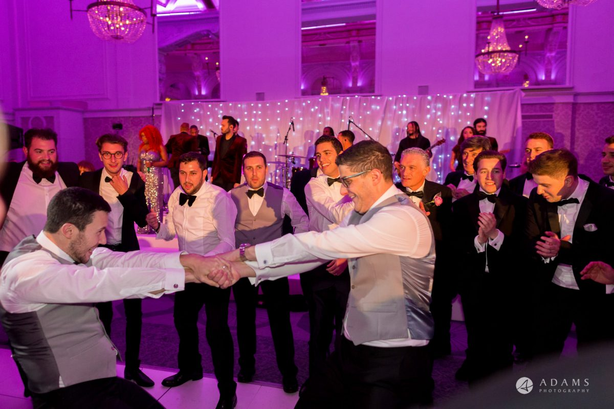 De Vere grand connaught rooms Israeli dance groom and his groomsmen