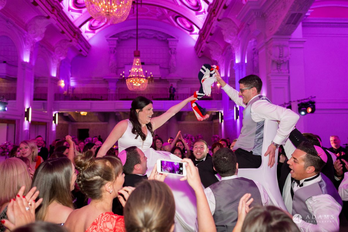 De Vere grand connaught rooms bride and groom on the chair dance