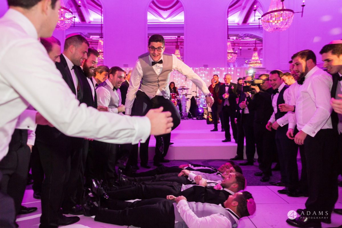 De Vere grand connaught rooms groom jumps over his mates