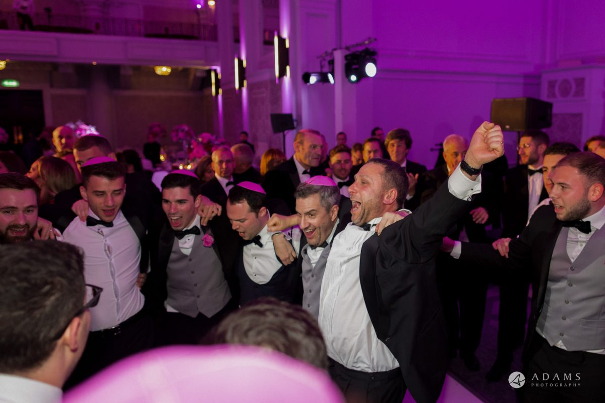 De Vere grand connaught rooms men dancing Israeli dance