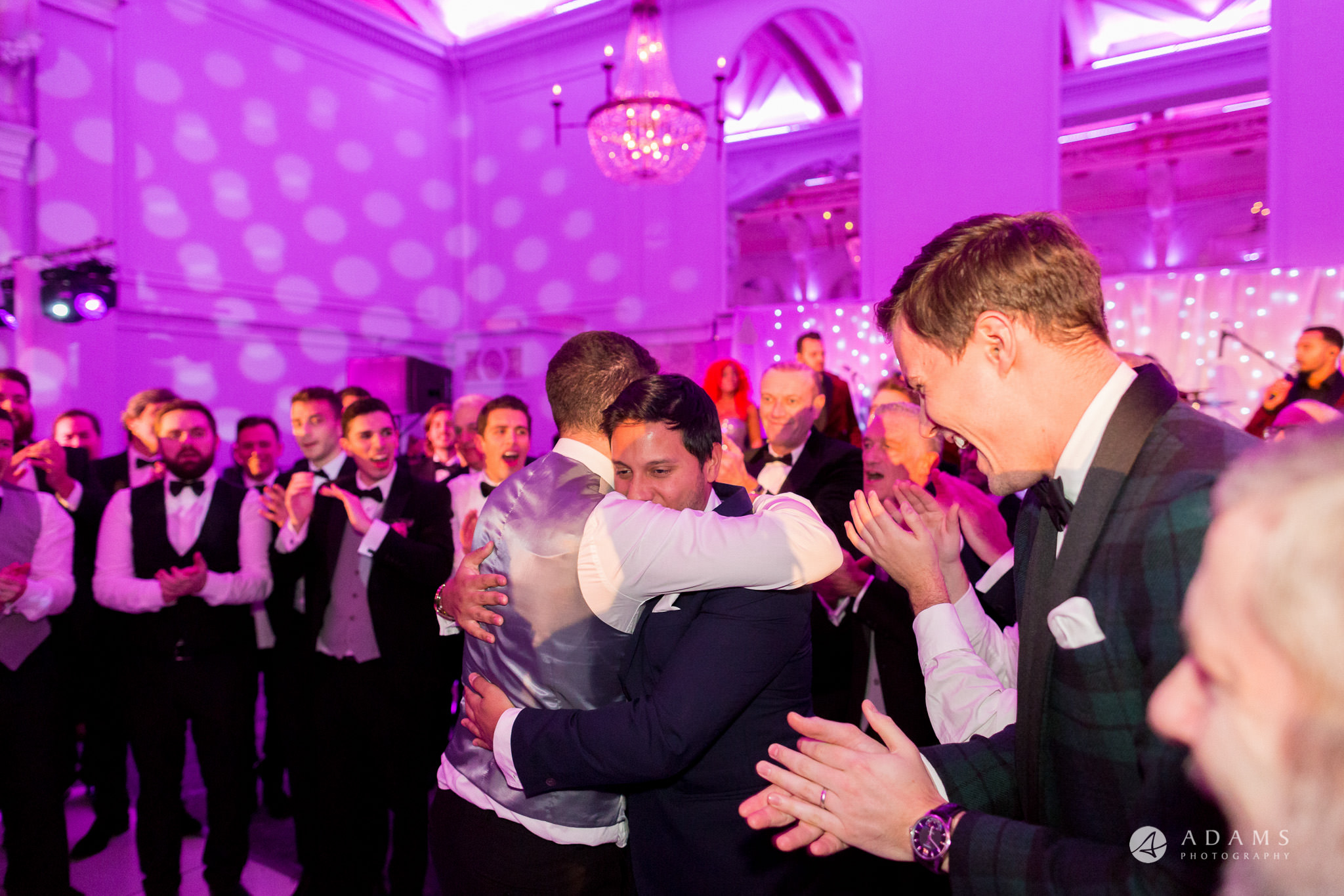 De Vere grand connaught rooms groom hugs his mate