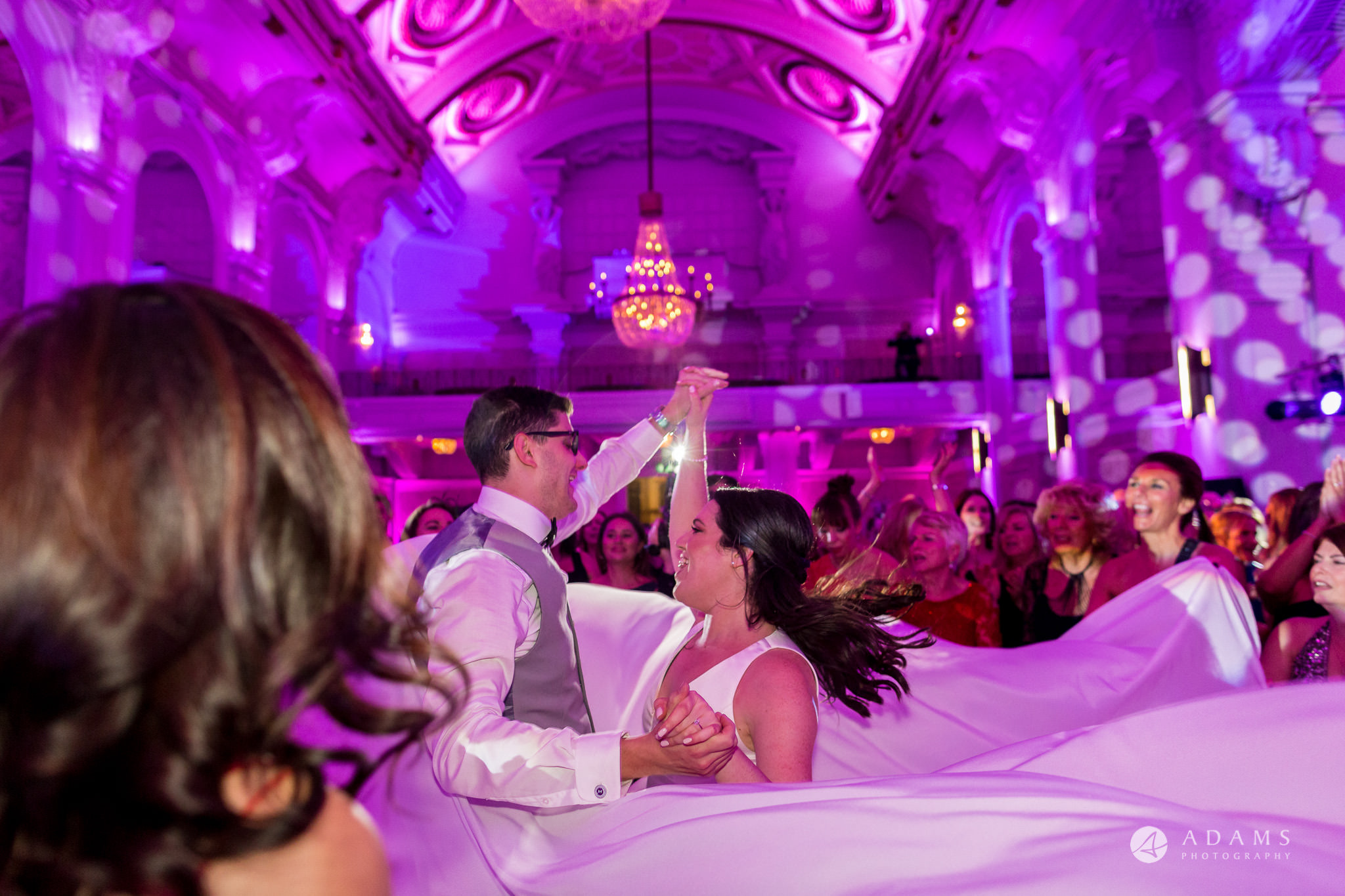 De Vere grand connaught rooms photographer couple dancing together