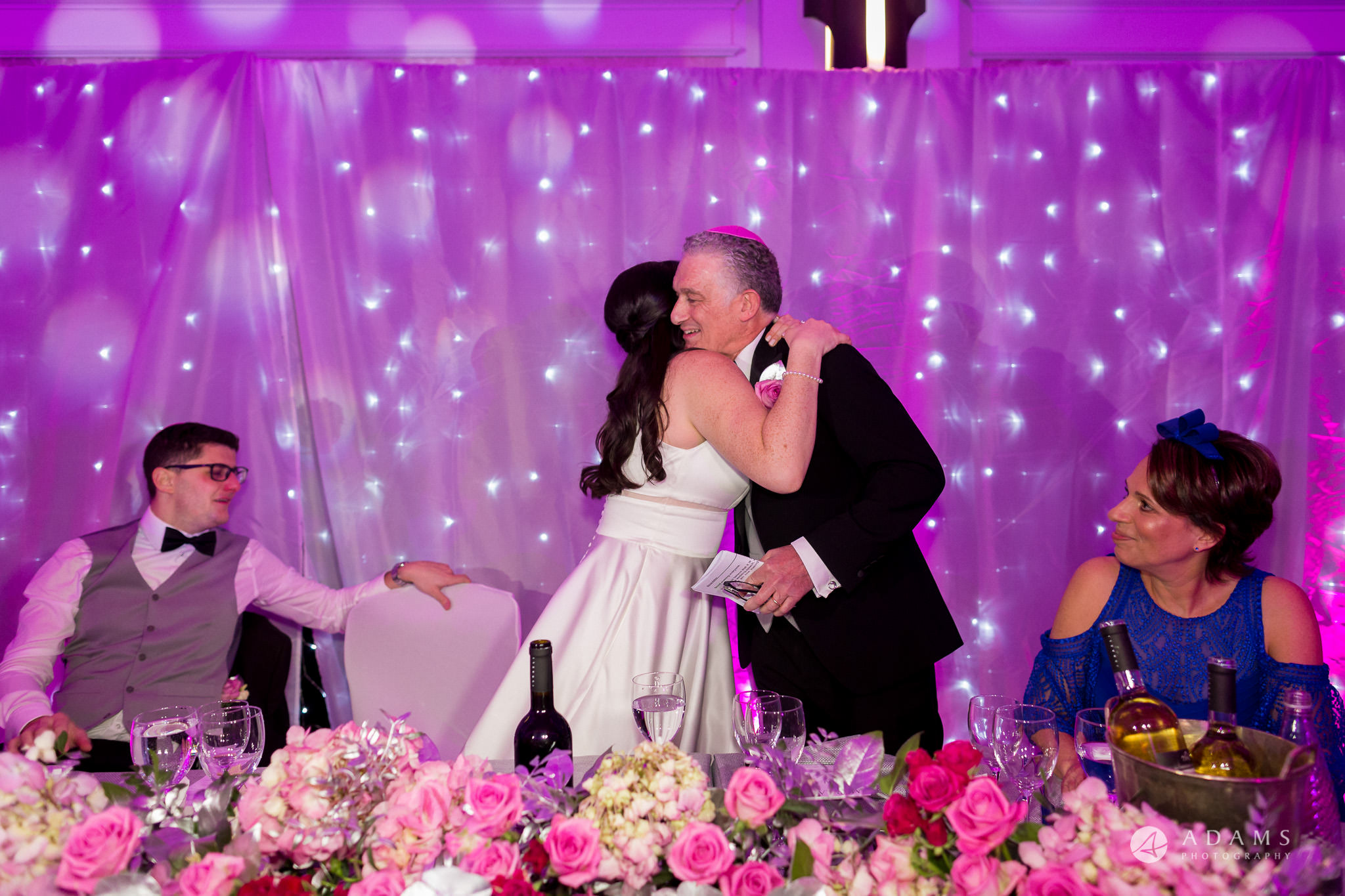 De Vere grand connaught rooms photographer bride hugs her father