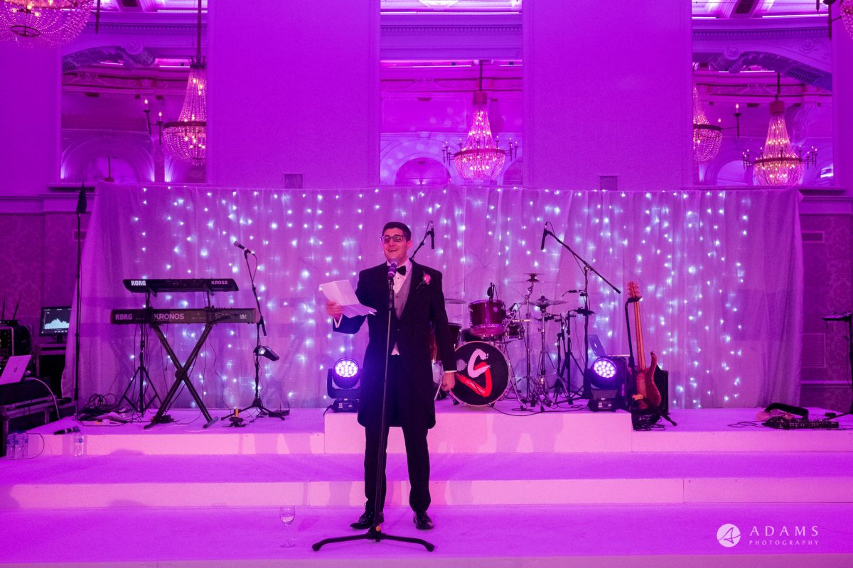 Grand connaught rooms photographer groom speech