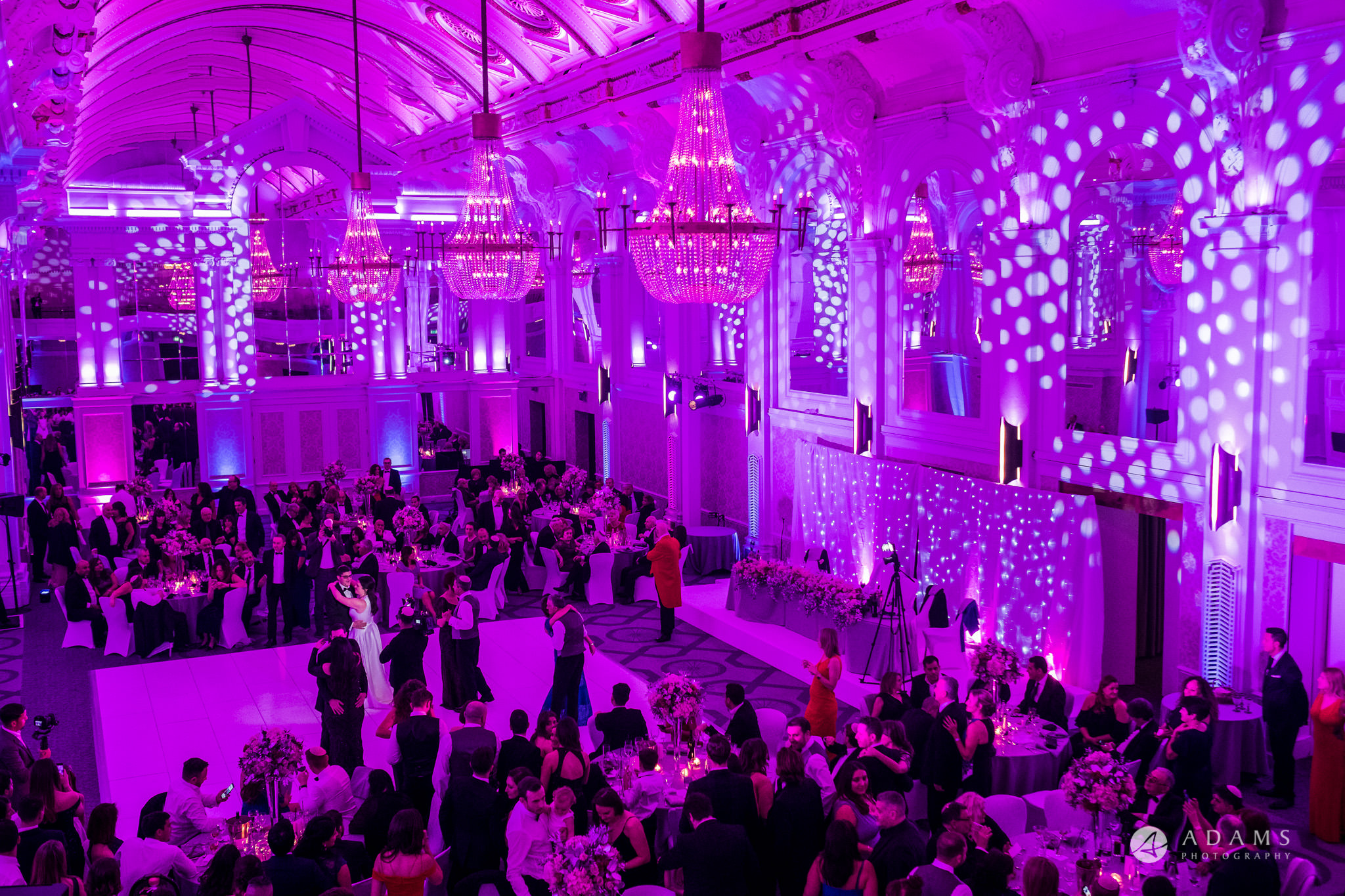 Grand connaught rooms first dance view from the balcony