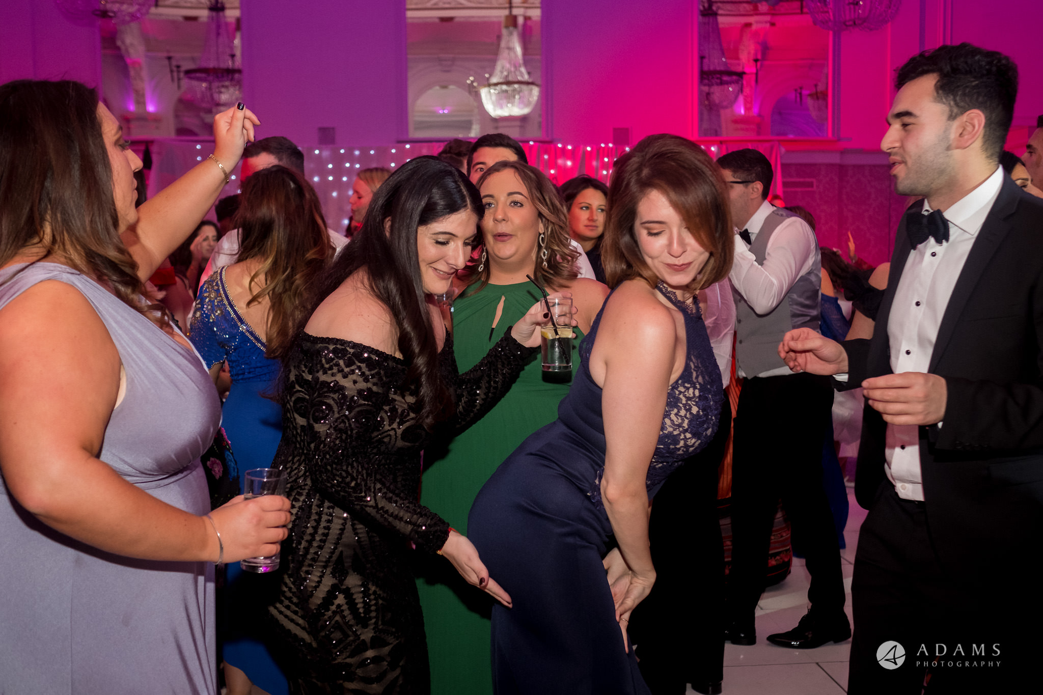 Grand connaught rooms wedding guests dancing