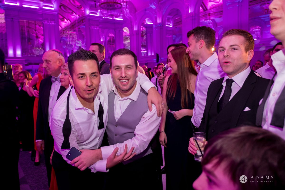 Grand connaught rooms wedding bestmen dancing