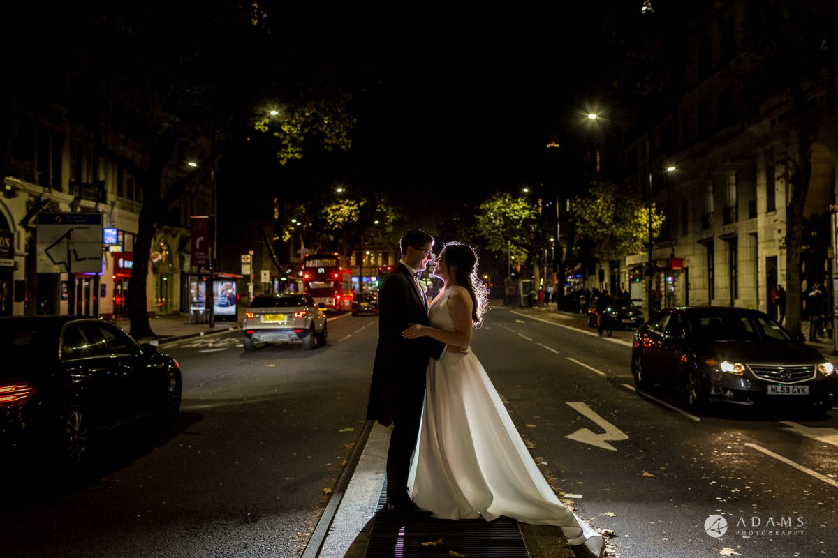 Grand connaught rooms wedding couple evening photoshoot