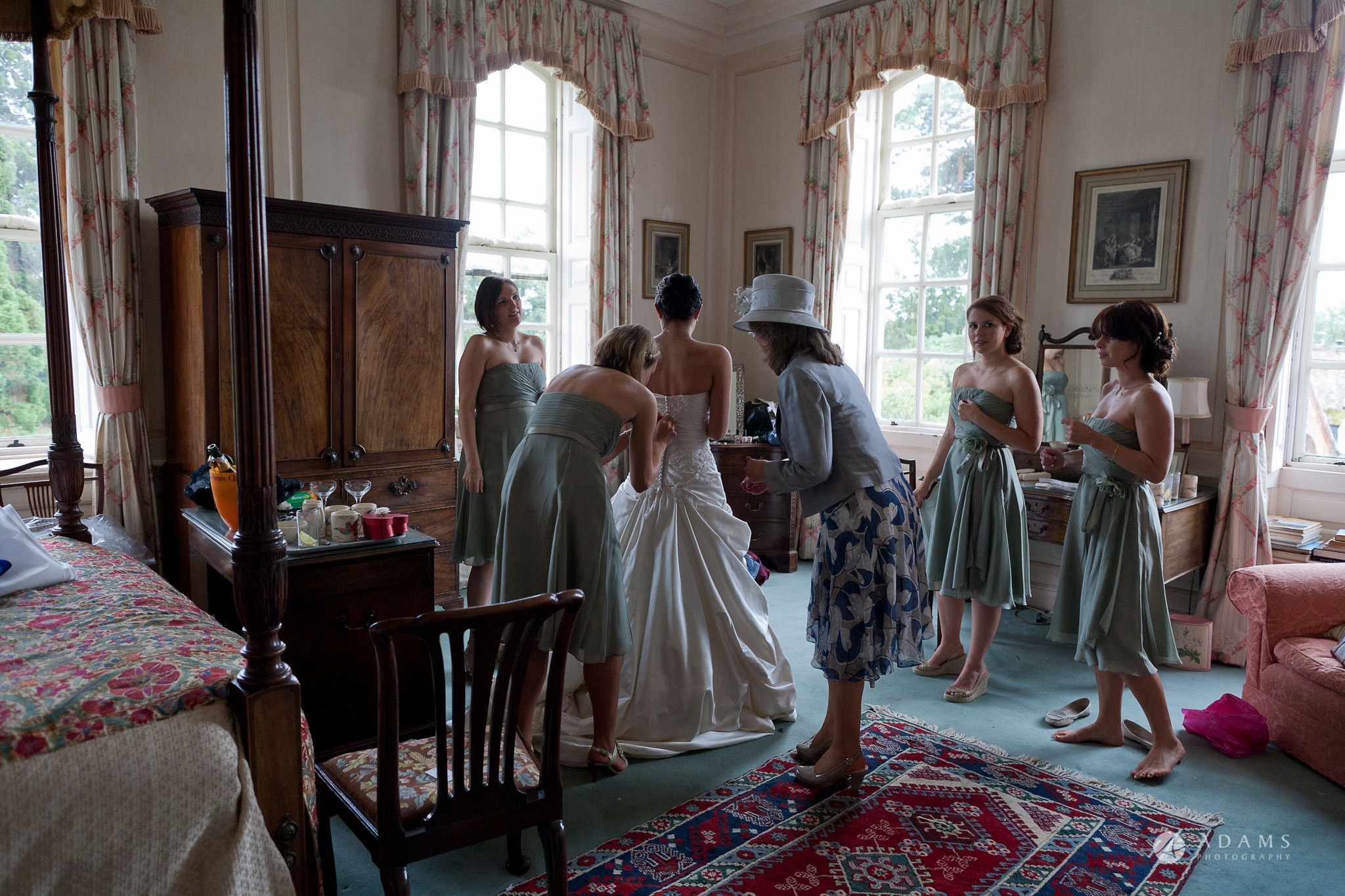 Kingston Bagpuize House wedding in the dress