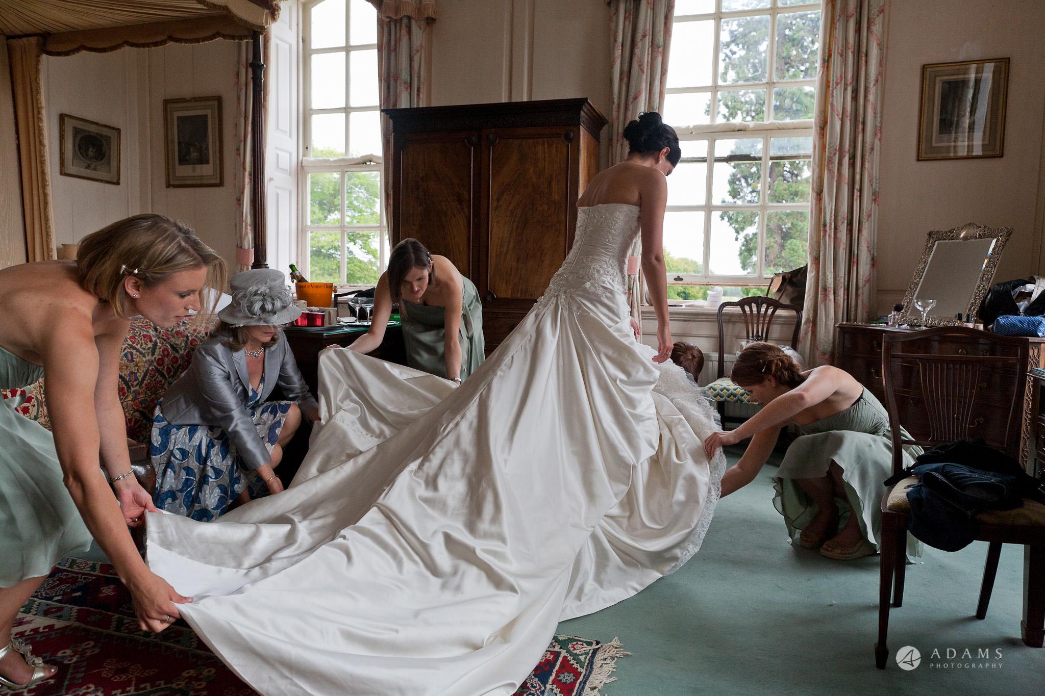 Kingston Bagpuize House wedding dress