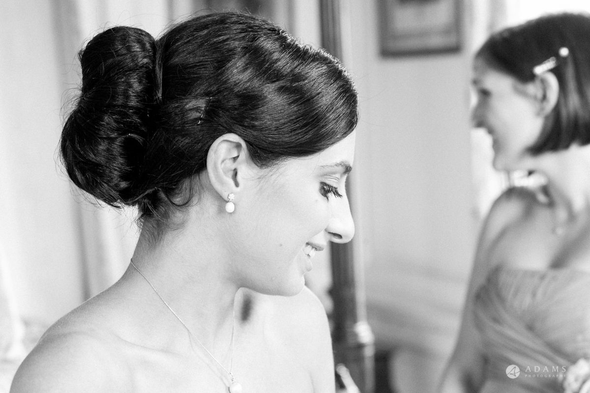 Kingston Bagpuize House wedding bridal candid portrait