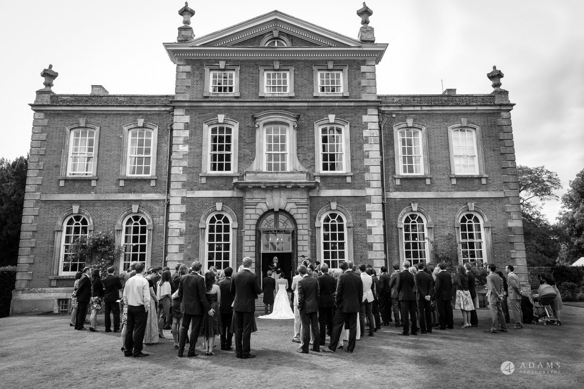 Kingston Bagpuize House wedding ceremony outside