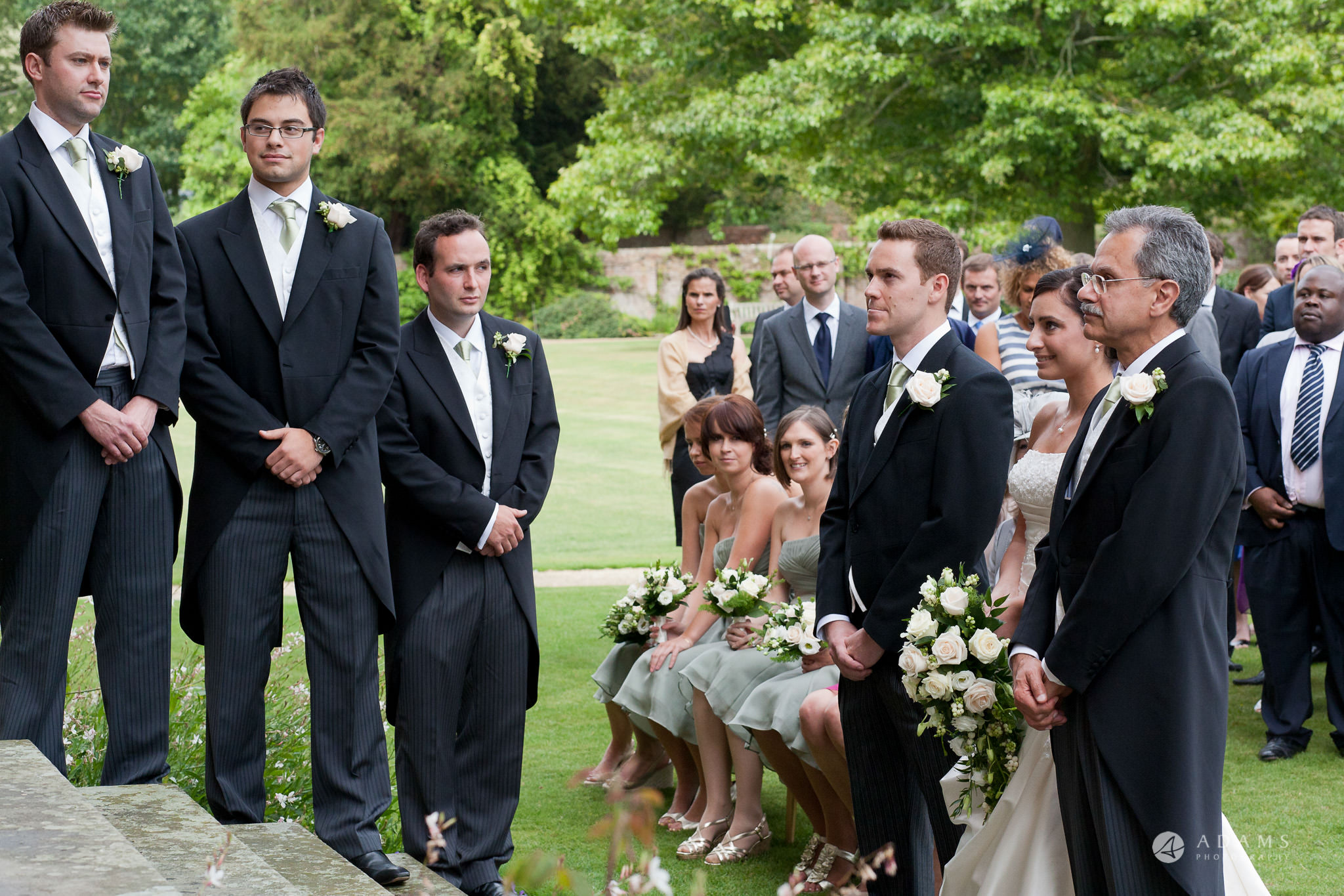 Kingston Bagpuize House wedding bridal party