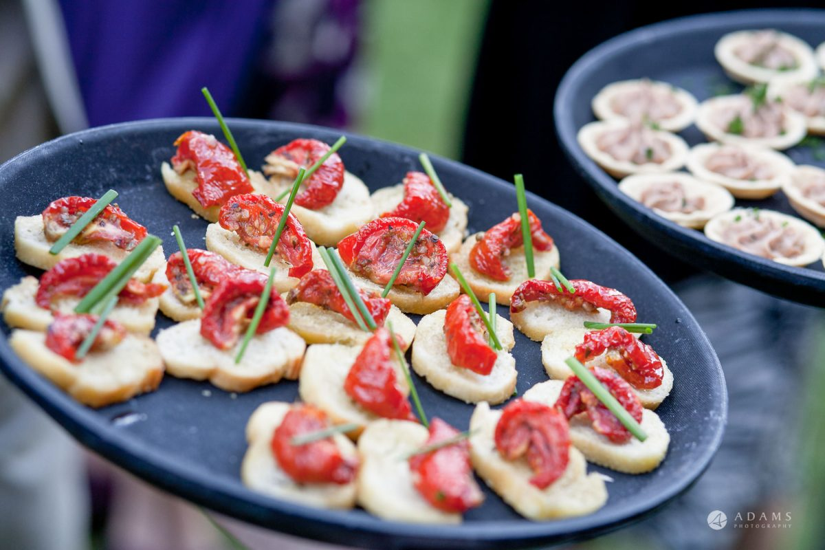 Kingston Bagpuize House wedding canapés