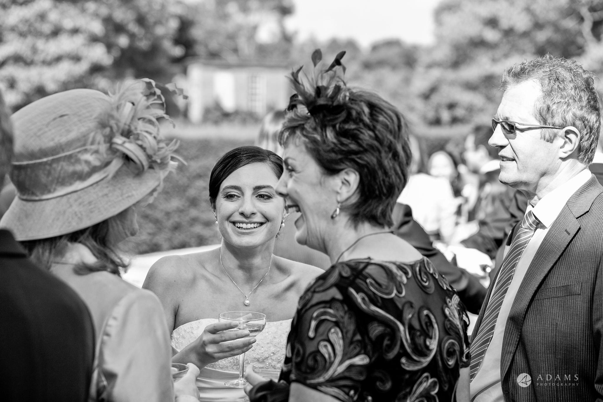 Kingston Bagpuize House wedding bride mingling