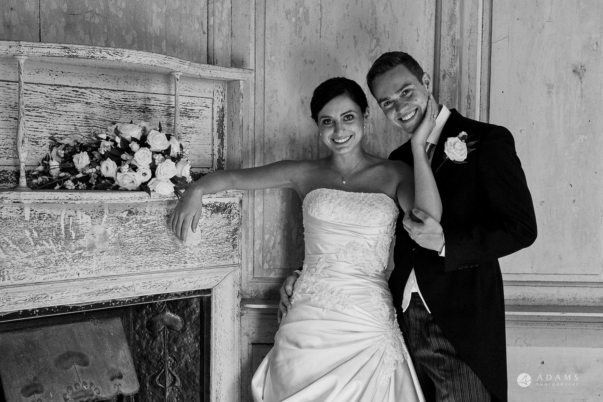 Kingston Bagpuize House wedding couple portrait